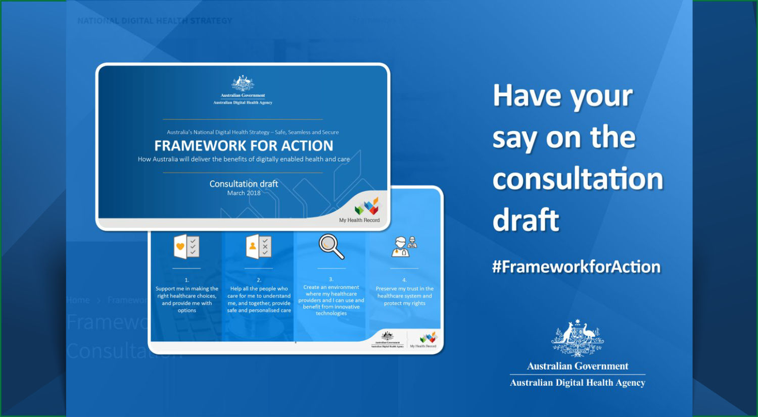 Framework for Action – invitation for contributions