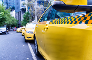 A line of taxis in a Melbourne street