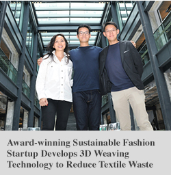 Award-winning Sustainable Fashion Startup Develops 3D Weaving Technology to Reduce Textile Waste