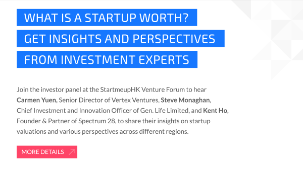 Join us at the StartmeupHK Venture Forum