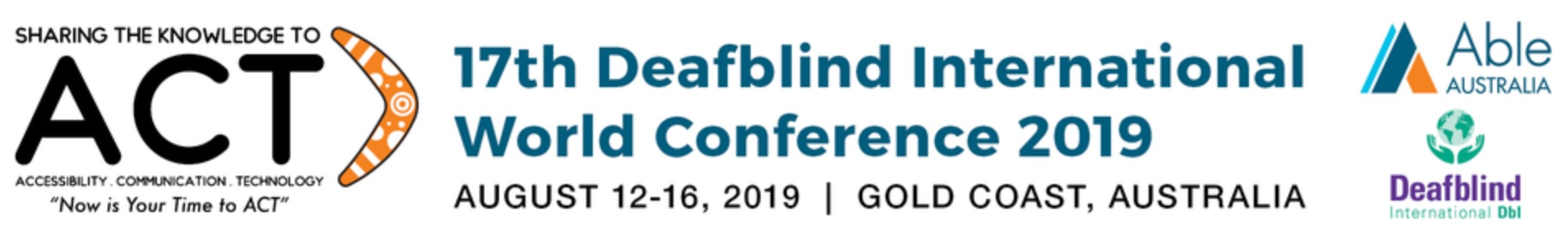 Deafblind International World Conference 2019 logo