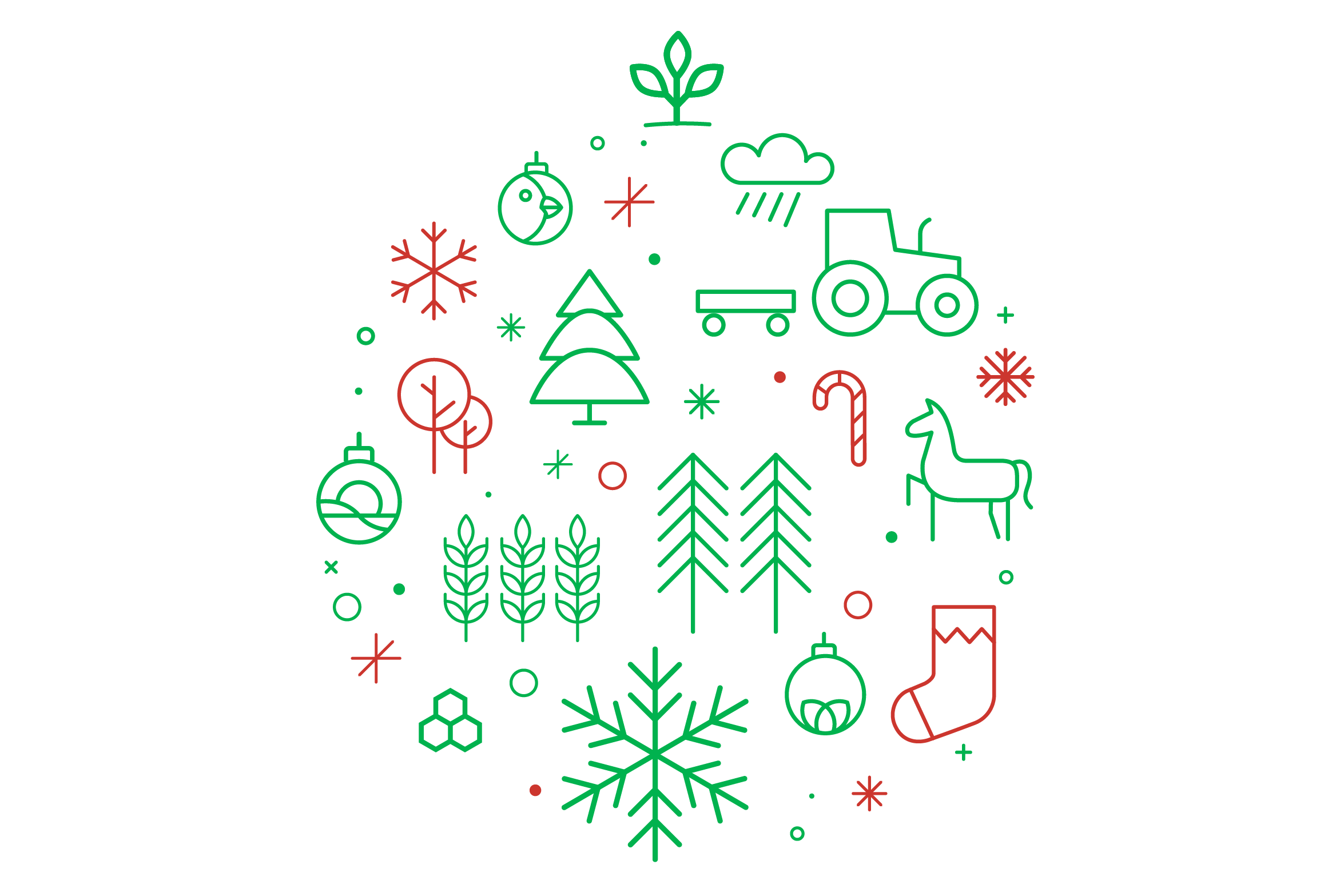 Christmas-inspired graphic