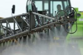Spraying a crop