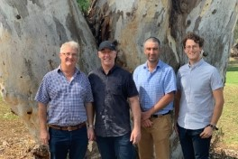 Pasture Seeds project researchers: Dr Phil Nichols, Dr Kevin Foster, Dr Andrew Guzzomi and pHD candidate Wesley Moss