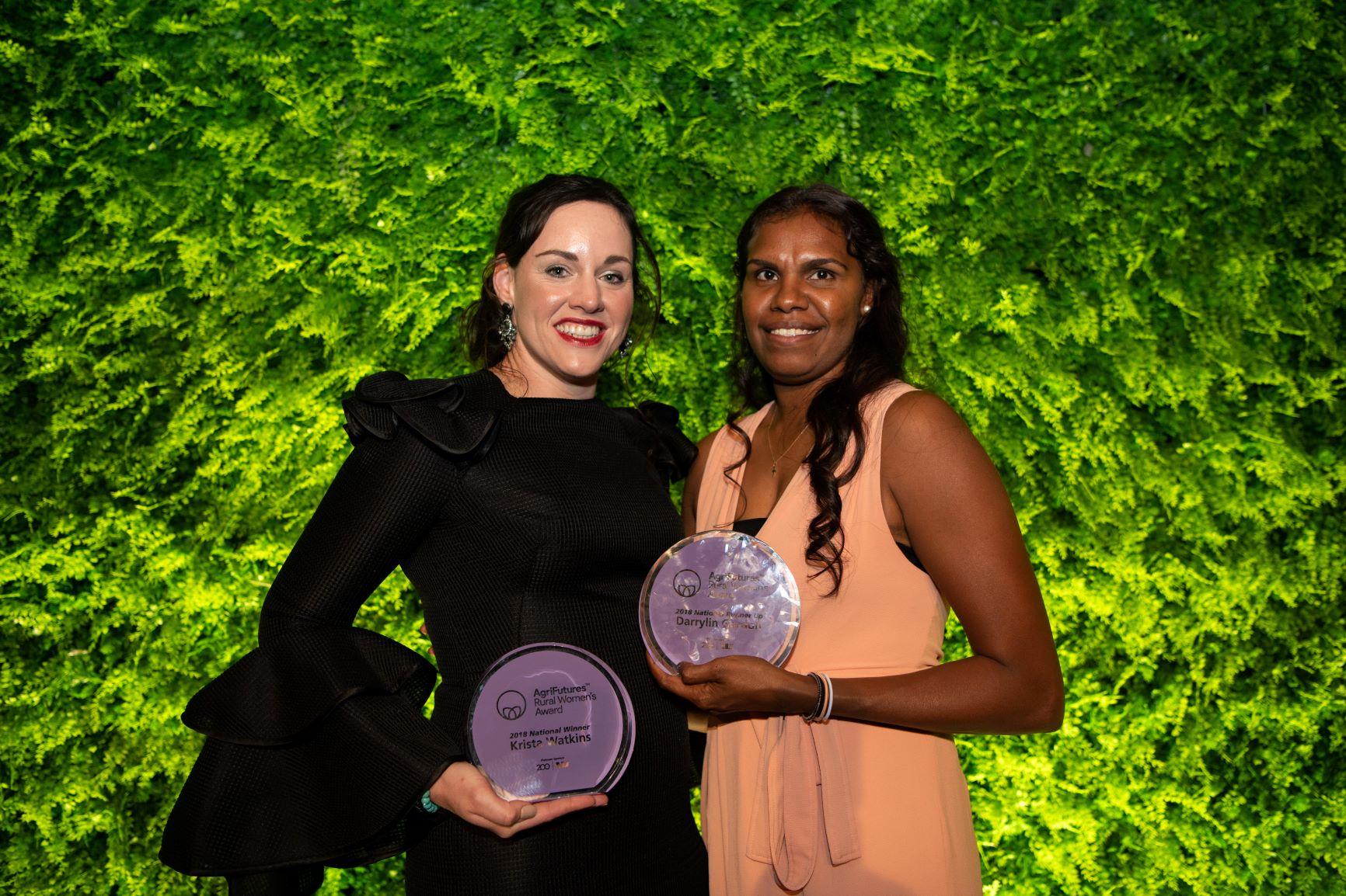 2018 National Winner Krista Watkins and Ruinner-up Darrylin Gordon