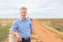 AgriFutures Australia Managing Director John Harvey standing in paddock